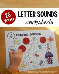 I love these letter sounds activities because they're not your typical worksheet. Print one for each letter, and help your child cover the pictures that start with that letter's sound. Great for pre-readers! Letter Sound Activities, Learning Letters, Alphabet Activities, Literacy Activities, Literacy Centers, Cognitive Activities, Letter Games, Preschool Alphabet, Teaching Resources