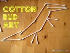 I think kids can make anything out of anything! Did you ever try cotton bud art?