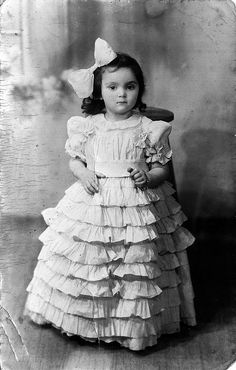 vintage photo of a little Polish girl | Flickr - Photo Sharing! So few pictures of Steampunklets im posting antique pics, think how easy this costume would be for your little girl and how she would feel like a princess