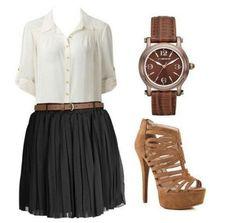 School girl look
