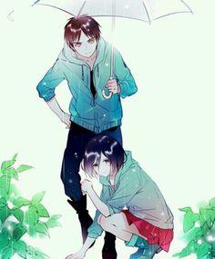 Eren and Mikasa     _Shingeki no Kyojin