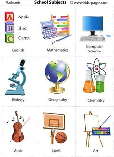 School Subjects flashcard