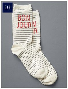sports shoes 204d7 7e6c7 Bonjour crew socks Cozy Socks, Knit Socks, Sock Shoes, Leggings, Tights,