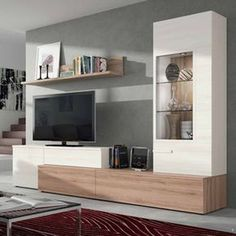 45 Amazing Wall Storage Items For Your Contemporary Living Room - Floating wall storage is a mixture of sensible storage and residential décor vogue the place the storage unit is mounted to the wall and is used to handle CDs and DVDs. Nordic Living Room, Living Room Tv Unit, Cozy Living, Living Room Furniture, Living Room Decor, Living Room Storage, Modern Tv Wall Units, Tv Cabinet Design, Tv Wall Decor