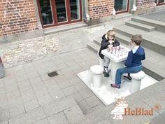 Betonnen Schaaktafel gepolijst, 4 persoons bij Øster Farimagsgades Skole in København