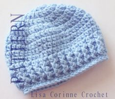 newborn crochet hat pattern easy – Knitting Tips Crochet Hats For Boys, Easy Crochet Hat, Baby Girl Crochet, Crochet Baby Hats, Simple Crochet, Booties Crochet, Crochet Slippers, Double Crochet, Crochet Toys