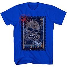 Big & Tall Star Wars: Episode VII The Force Awakens Chewbacca Stamp Tee