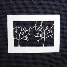 Learn how to make this stunning papercut bespoke name design in this step-by-step tutorial.