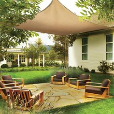 ShadeLogic Sun Shade Sail Heavy Weight 12 Foot Square - Sand Lounge Cover