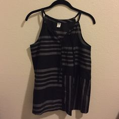 Sheer Tank Top Sheer gray and black striped tank that has never been worn! So cute and says it's an XS but it fits like a S/M. To see more pictures just ask :) *not OU Urban Outfitters Tops Blouses