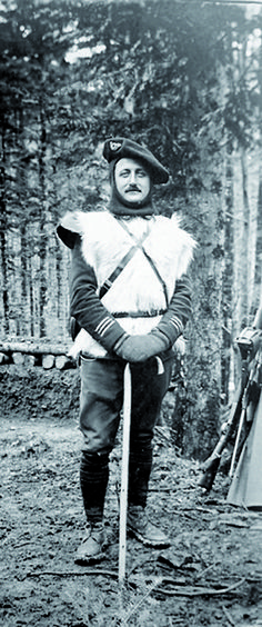 officer of french moutain troops during wwi ww1