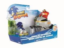 Sonic Boom 2 Pack Figures - Eggmobile Explodes And Fires Missiles