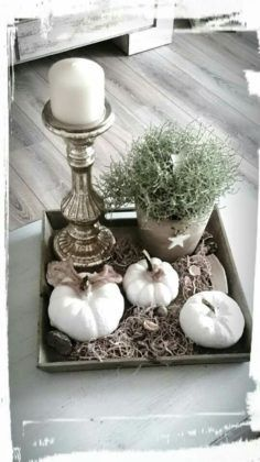 Herbstdeko - Beautiful decoration with the autumn vegetable pumpkin! Herbstdeko – Beautiful decoration with the autumn vegetable pumpkin! Diy Crafts To Do, Fall Crafts, Fall Home Decor, Autumn Home, Christmas Decorations, Table Decorations, Holiday Decor, Seasonal Decor, Deco Floral