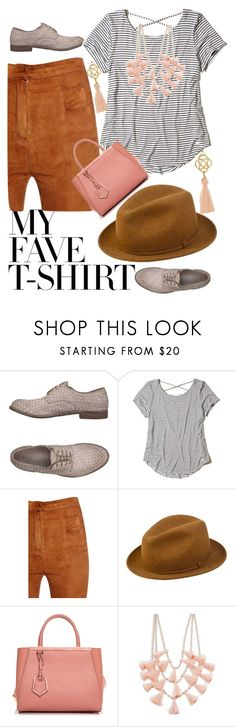 """""""T-shirt"""" by margosedih ❤ liked on Polyvore featuring Officine Creative, Hollister Co., Balmain, PANTROPIC, Fendi and Design Lab"""