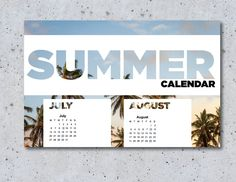 Free Item Of The Week: Basic Summer Calendar - Youth Ministry Media