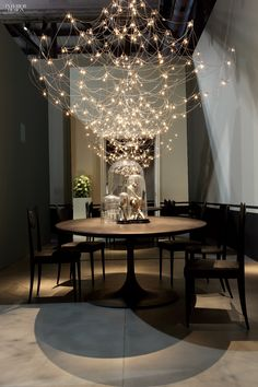 Jan Pauwels's Galaxy chandelier in nickel by Baxter.