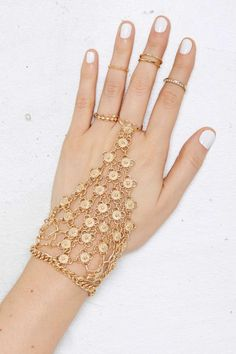 Sheena Chain Hand Piece - Accessories | Body Chains | Bracelets