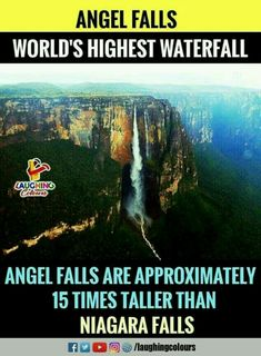 Angel Falls located in Venezuela True Interesting Facts, Interesting Facts About World, Intresting Facts, Wow Facts, Real Facts, Weird Facts, Amazing Places On Earth, Beautiful Places To Travel, Cool Places To Visit