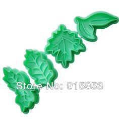 1 set free shipping.Tree leaf Plunger Cutter DIY.cake Decorating tools,Color sent at random . US $4.70