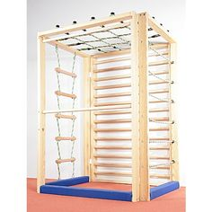 """Klettergerät """"Allround"""" - Bild 3 Rope Ladder, Indoor Climbing, Indoor Activities For Kids, Wall Bar, Spare Room, Wood Toys, Kidsroom, Play Houses, Kids Playing"""