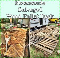 Homemade Salvaged Wood Pallet Deck Homesteading  - The Homestead Survival .Com