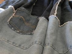 Denim Do Over | Cozy Denim Quilt Made From Jeans | http://www.denimdoover.com