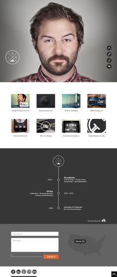 Portfolio Website - Justin Graham - http://dribbble.com/shots/976632-Personal-Website-Concept?list=users