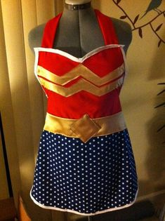 Wonder Woman apron , via Etsy.