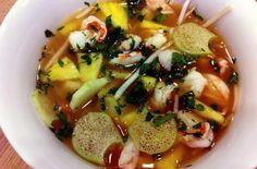Vietnamese Hot and Sour Shrimp Soup