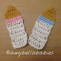 Bottle Party Favors/ Favores para Fiestas de Biberón  @amybellababies #amybellababies #crochet #crocheted #crocheting…