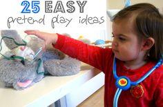 25 Easy Pretend Play Ideas --> LOVE THIS!! #weteach