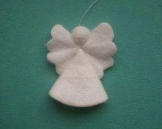 Cantinho craft da Nana: anjinho de feltro