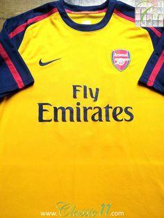 0aa4a9778 2008 09 Arsenal Away Football Shirt (S)