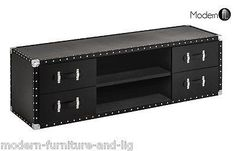 black tv unit Product Description This beautiful TV stand is made with MDF then…