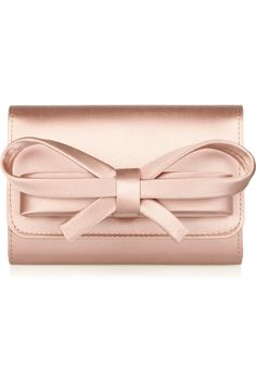 Valentino blush pink clutch with bow Satin Bows, Pink Satin, Pink Bows, My Bags, Purses And Bags, Color Melon, Fashion Bags, Fashion Accessories, Fashion Shoes