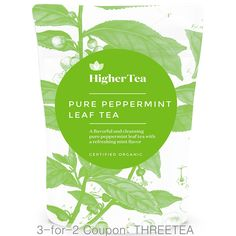 Pure Peppermint Leaf Tea 3 oz, By Higher Tea *** Hurry! Check out this great item : Fresh Groceries