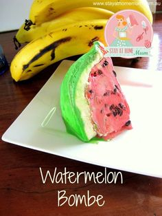 Watermelon Bombe - A frozen dessert that looks like a watermelon!!