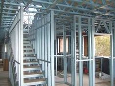Building your Container Home Metal Stud Framing, Steel Framing, Steel Frame House, Steel House, Tyni House, Steel Frame Construction, Still Frame, Metal Structure, Steel Buildings