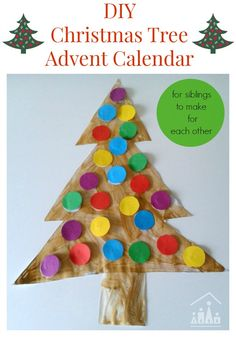 Are you looking for a fun alternative to a sugar filled chocolate advent calendar this Christmas? Make our DIY Christmas Tree Advent Calendar's instead.