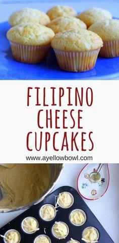 Recipe for Filipino cheese cupcakes
