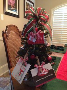 Christmas gift card tree for kids teacher each family contributed a gift card christmas tree for teachers negle Gallery