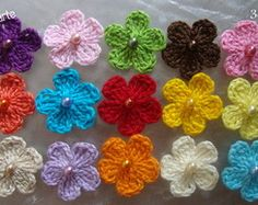 Flor de Crochê 3 cm