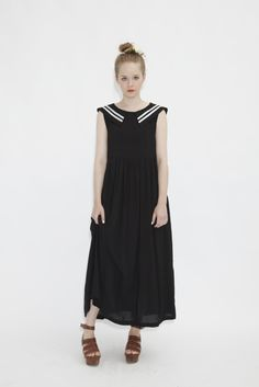 Sailor Midi Dress http://www.thewhitepepper.com/collections/new-in/products/sailor-midi-dress-black