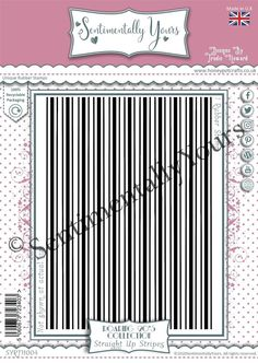 Trudie Howard Sentimentally Yours A6 Rubber Stamp - Straight Up Stripes Stripes, Stamp, Stamps