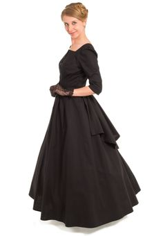 Victorian Style Cotton Dress By Recollections - like the back flap