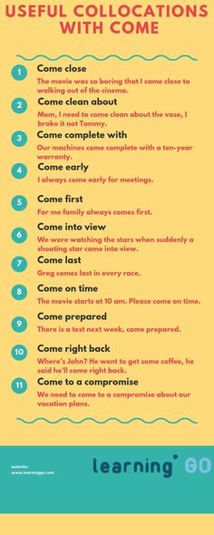 Best Life Hacks Images In  Collocations With Come In English