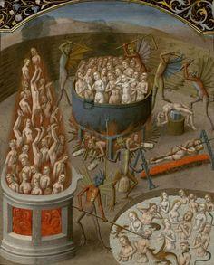 Augustin - De Civitate Dei contra Paganos (c. 1475). Hell. Illumination byMaître François.