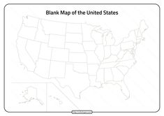Free Printable United States Blank Map, a great educational activity to help students learn the 50 United States of America.