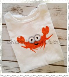 $2.95Applique Happy Crab Machine Embroidery Design