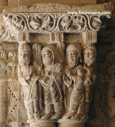 Capitel románico del Claustro de la Catedral de Tudela (Navarra). Para saber más de la Catedral de Tudela => http://www.turismo.navarra.es/esp/organice-viaje/recurso/patrimonio/3024/catedral-de-santa-maria.htm